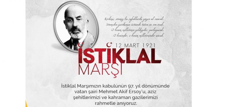 Rize İl Başkanı Avcı'dan İstiklal Marşı'nın Kabulü Mesajı