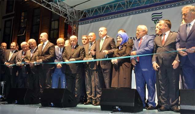Erdoğan, RTEÜ İlahiyat Fakültesi'nin açılışını yaptı