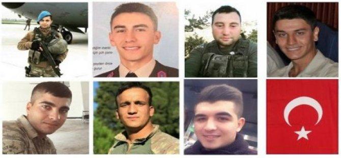 Afrin'de 8 Kahraman Askerimiz Şehit Oldu