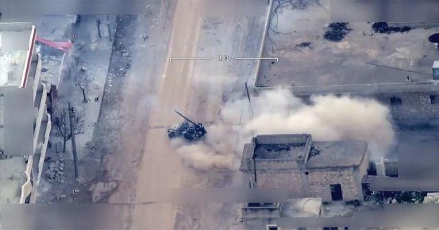 Afrin'de teröristler sivillerin ölümüne neden oluyor! O anlar, İHA'lar tarafından görüntülendi