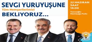 AK Parti Rize'den Sevgi Yürüyüşü