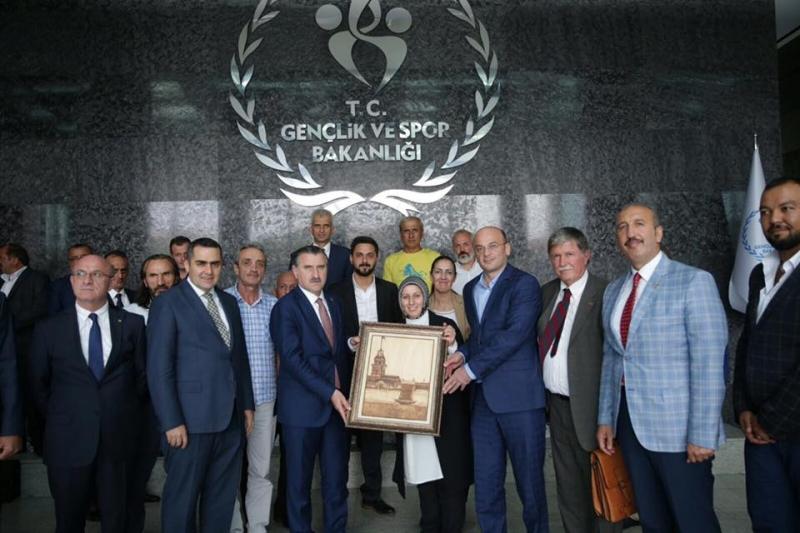 Ardeşen Heyetinden Rizeli Spor Bakanı'na Ziyaret