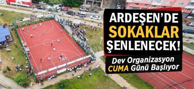 Ardeşen'de Sokak Basketbolu Turnuvası Başlıyor