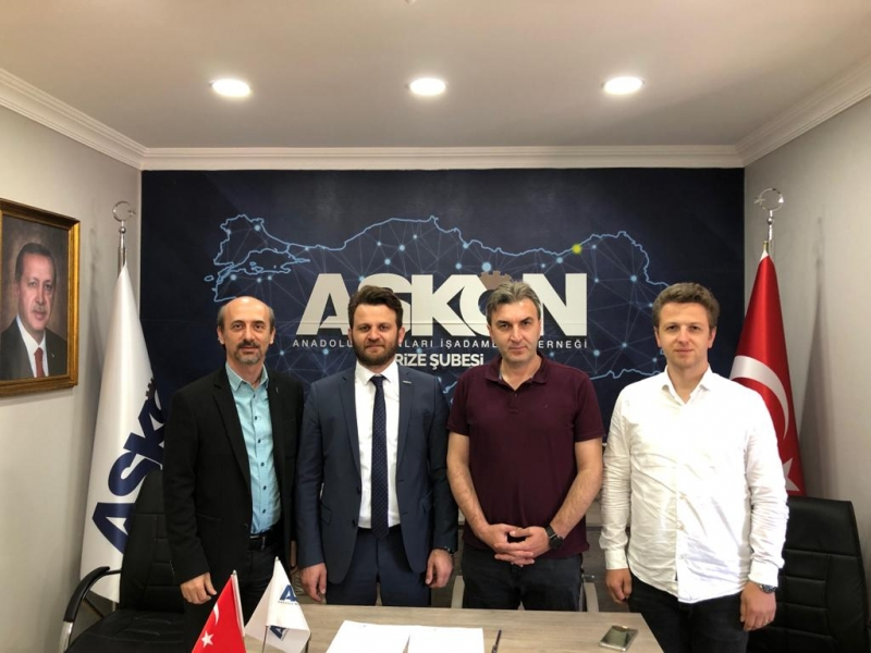 ASKON Rize Şubesi Sektörler Başkanı Sayın Volkan Baş ve Rize Şekerbank Şubesi arasında, kredi protokolü imzalandı.