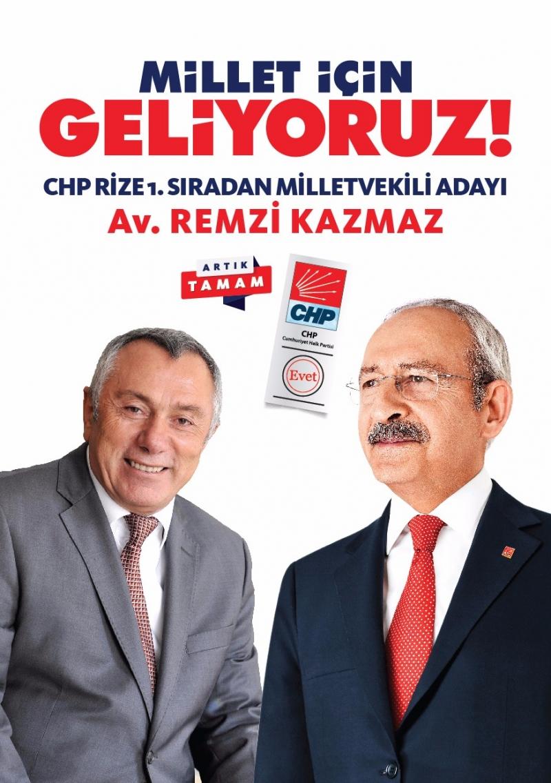 Av Remzi Kazmaz'dan Kemal Kılıçdaroğlu'na Rize'ye Hoş geldiniz yazısı