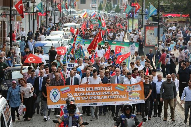 Çay, Turizm ve Yaz Sporları Festivali Kortej Yürüyüşüyle Devam Etti