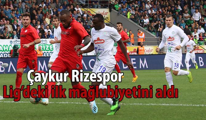 Çaykur Rizespor: 1 - Gazişehir Gaziantep FK: 2