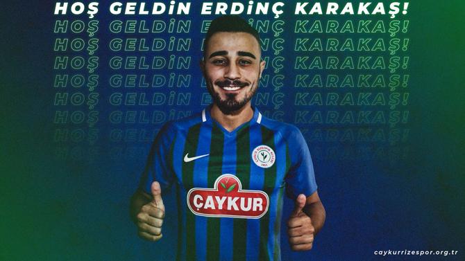 Çaykur Rizespor, Erdinç Karakaş'ı Transfer Etti