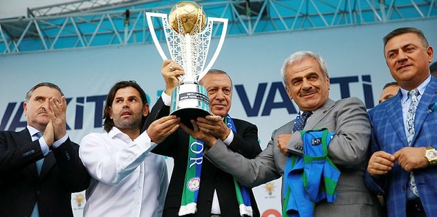 Çaykur Rizespor'da kupa Cumhurbaşkanı'na.