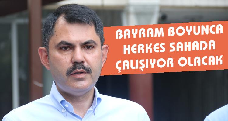 Çevre ve Şehircilik Bakanı Murat Kurum'un Rize'de Kurban Bayramı mesaisi