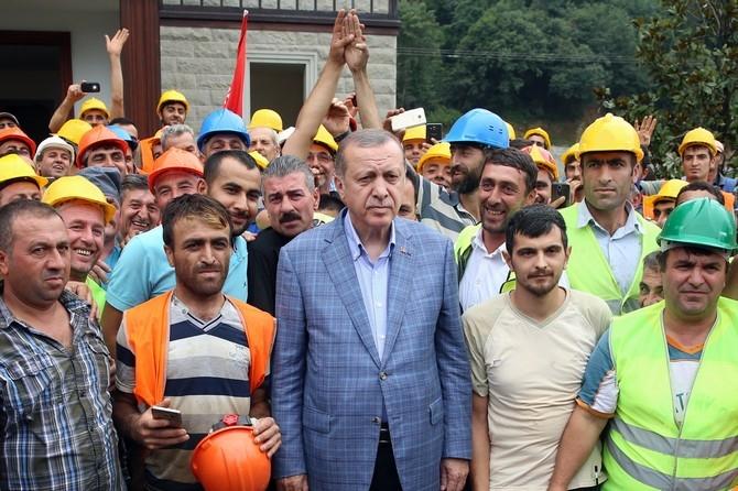 Cumhurbaşkanı Erdoğan Rize'de İncelemede Bulundu