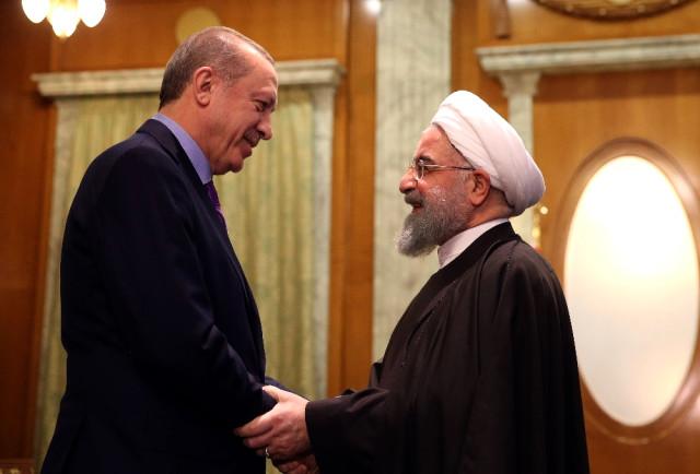 Cumhurbaşkanı Erdoğan, İran Devlet Başkanı Ruhani ile görüştü.