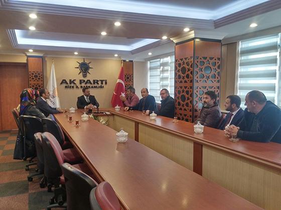 Fikri ASIM  Başkanlarından İl Başkanı AVCI'ya Hayırlı olsun ziyareti
