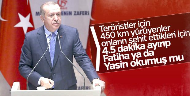 Erdoğan'dan adalet yürüyüşü tepkisi