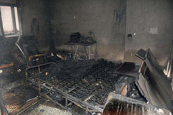 Gümüşhane'de ev yangını