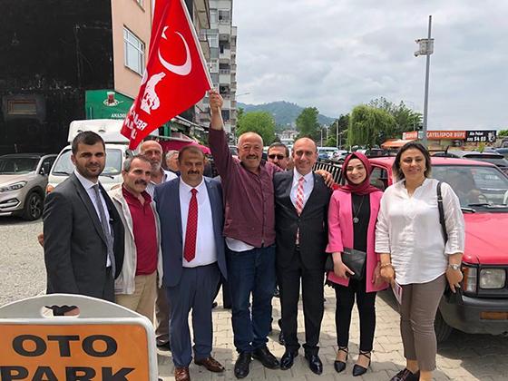 Mhp Rize Milletvekili  Adayları Çalışamlarını Sürdürüyor
