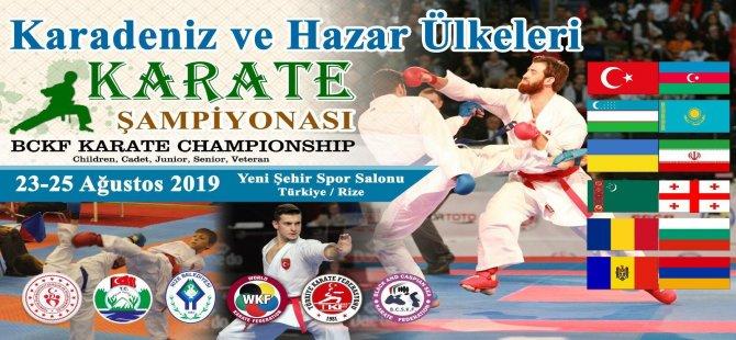 Rize Karate Şampiyonasına Ev Sahipliği Yapacak