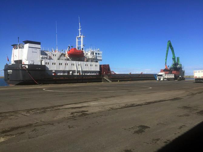 Rize Limanı'na İlk Kez Buğday Gemisi Geldi