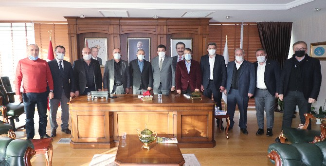Rize TSO ile Ordu TSO Samsun Sarp Demiryolu Projesini Görüştü