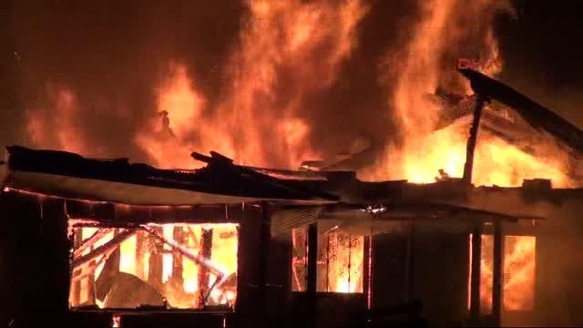 Rize'de 4 yayla evinin yakıldığı iddiası
