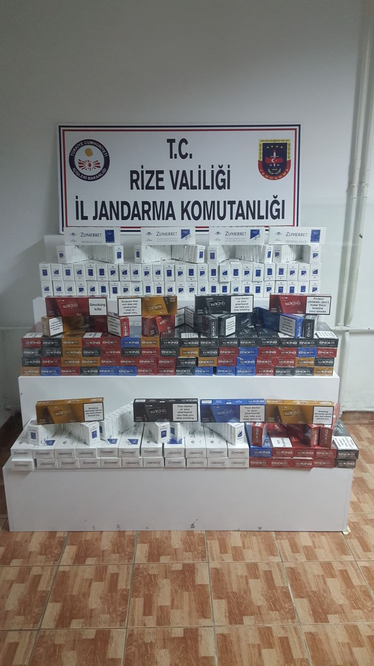 Rize'de Kaçak Sigara Operasyonu