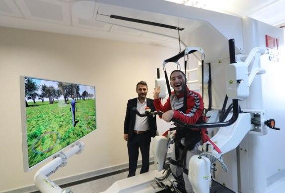 """Rize'de """"robotik yürüme cihazı"""" hizmete girdi"""