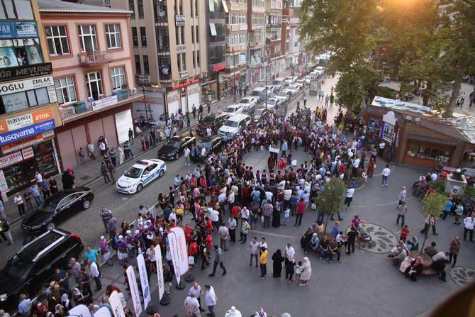 Rize'de Yaz Sporları Festivali Kortej Yürüyüşüyle Devam Etti