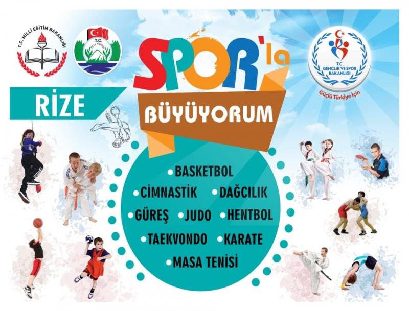 Rize'li öğrenciler Sporla Büyüyor