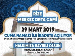 Timya Vadisi Orta Camii Mevlid-i Şerif ve Cuma Namazı ile İbadete Açılıyor