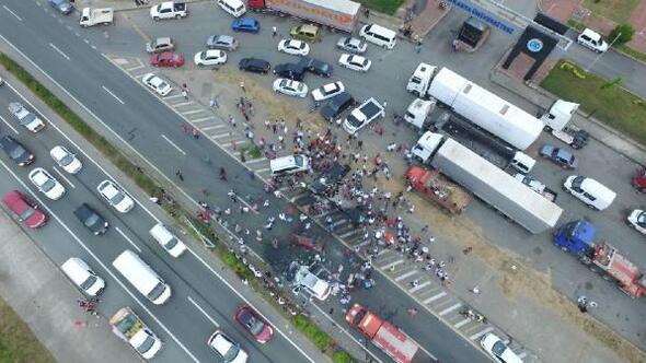 Trabzon'da zincirleme trafik kazası: 5 yaralı