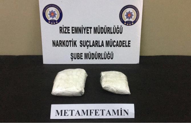 Türkiye'yi Tehdit Eden Uyuşturucu Metamfetamin Rize'de Yakalandı