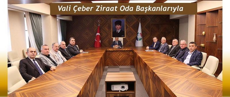 Vali Kemal Çeber Ziraat Odası Başkanları İle Görüştü