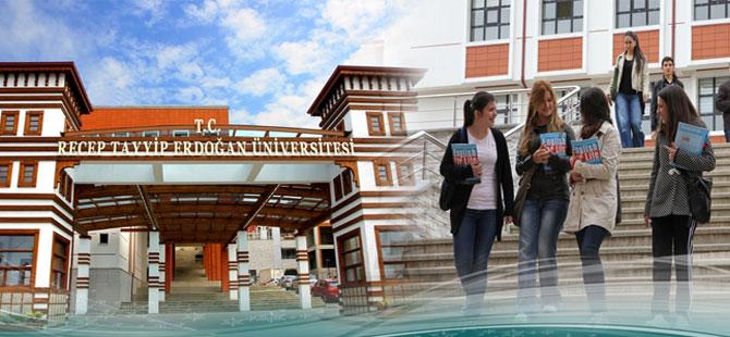 YÖK'ten Recep Tayyip Erdoğan Üniversitesi'ne 4 Bin 133 Kontenjan
