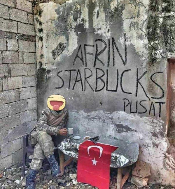 Zeytin Dalı Harekatı çerçevesinde yoğun operasyonların sürdüğü Afrin'den yeni görüntüler var.