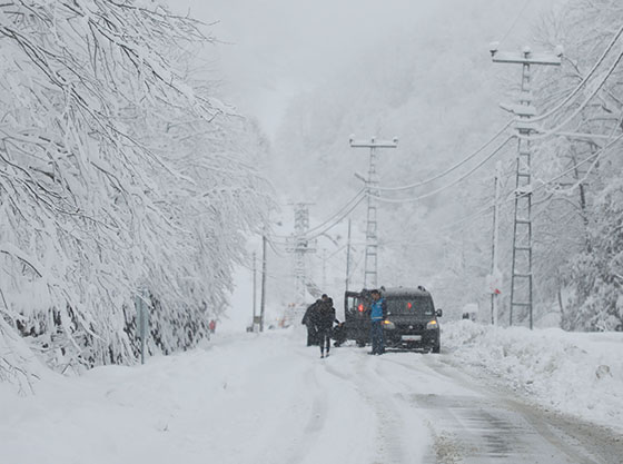 Kar Yağışı Rize'de Etkili Oluyor