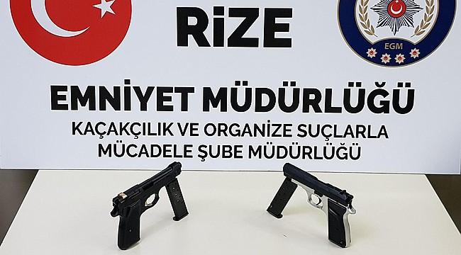 Rize'de silah kaçakçılığı yapan 4 kişi yakalandı