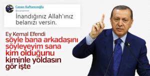 Erdoğan, partililere seslenirken CHP'nin yeni vitrin ismi olan Canan Kaftancıoğlu'nun Türkiye düşmanı söylemlerine dikkat çekti.