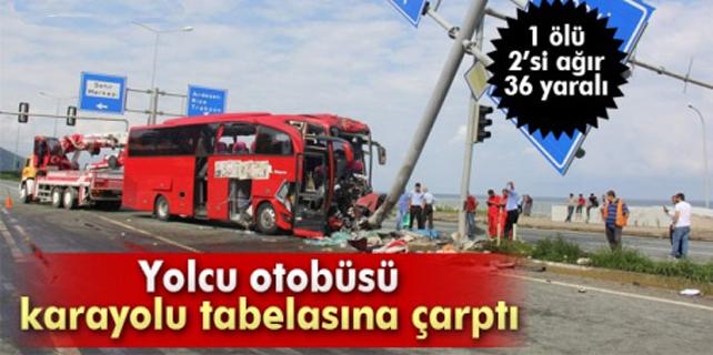 Fındıklı'da feci kaza: 1 ölü 36 yaralı