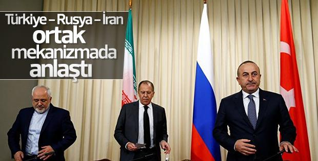 Türkiye Rusya ve İran Suriye'deki ateşkesi izlemede uzlaştı