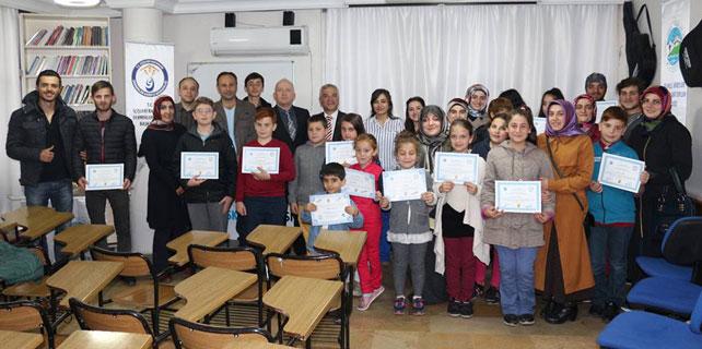 Çaydosk kursiyerleri sertifikalarını aldı