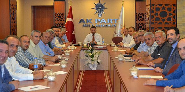 İlçe Başkanları Eylül toplantısını yaptı