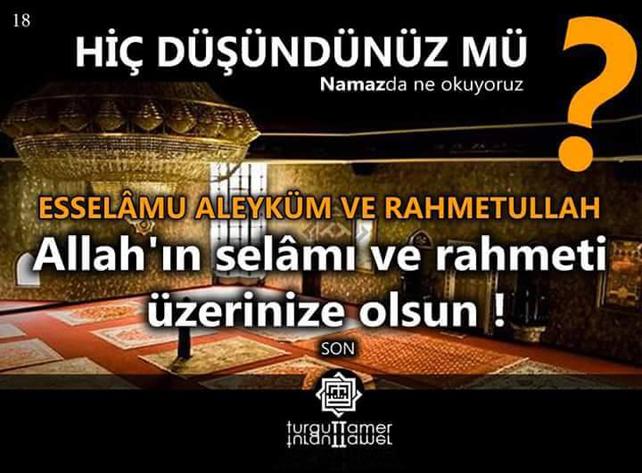 Namaz dualarının Türkçe anlamları