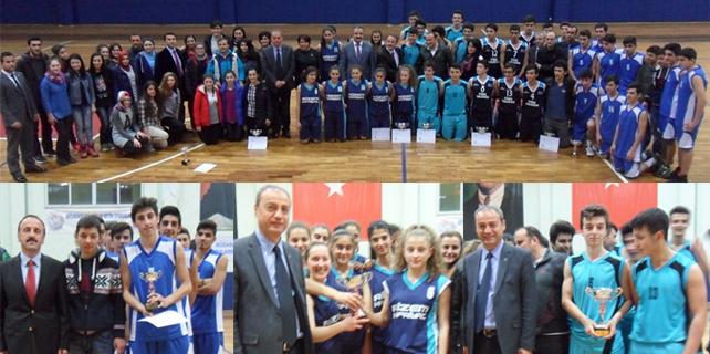 Rize'de Gençler Basketbol İl Birinciliği sona erdi