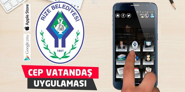 Rize Belediyesi Cep Uygulaması ile vatandaşın hizmetinde
