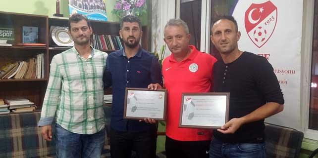 TÜFAD Rize'den başarılı antrenörlere ödül