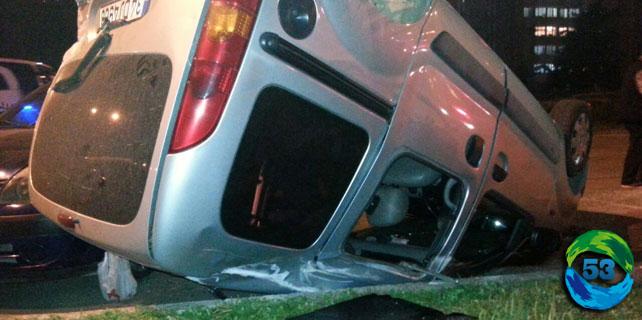 Rize'deki kazada araç takla atıp şerit değiştirdi