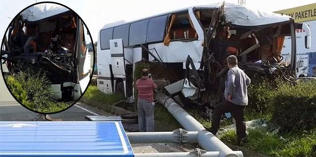 İyidere'de otobüs kazası