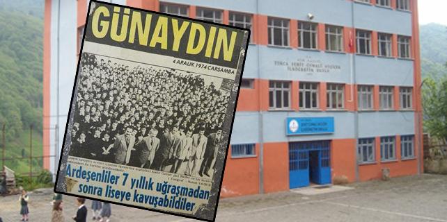 Ardeşen'de Şehit ismi taşıyan okul kapandı