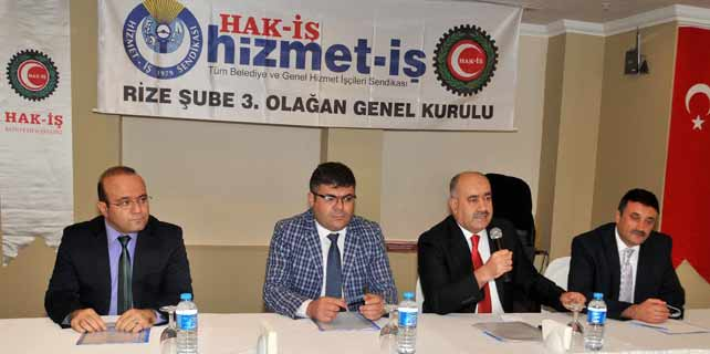 Hizmet-İş Rize'de 3. kez Mehmet Alaca dedi