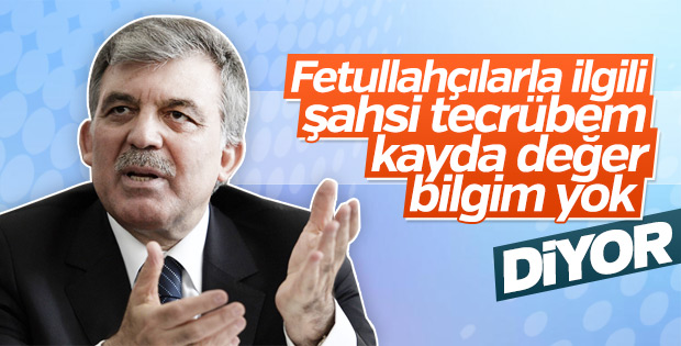 Abdullah Gül Darbe Komisyonu'na yanıt verdi